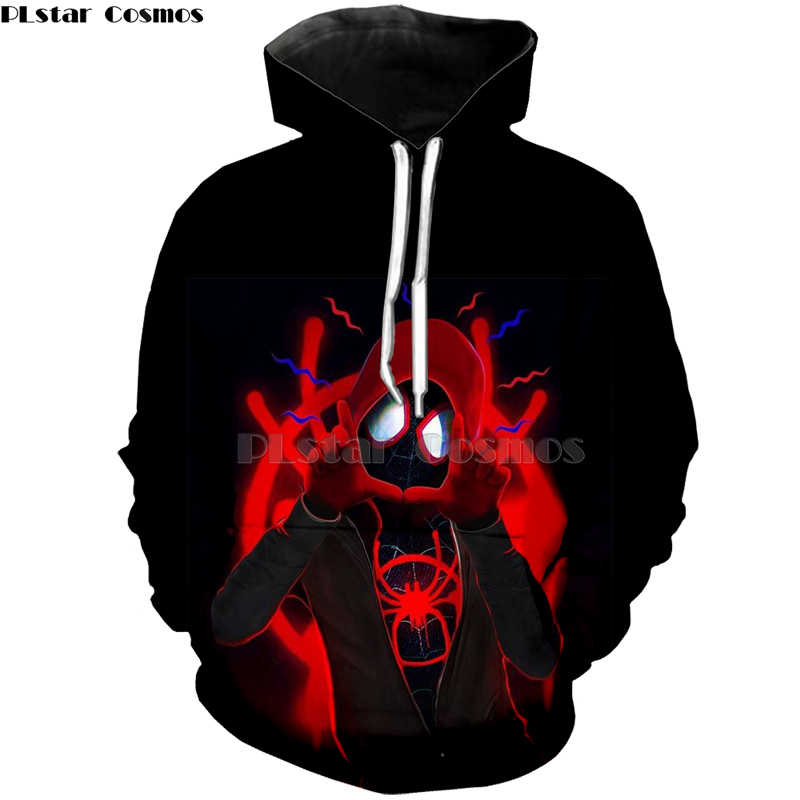 a4dbaa72 ... Spider-Man Into Spider-Verse venom Spider Man shirt/zip Hoodies  Sweatshirt 3D ...