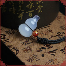 New Natural White Agates Stone Pendant 2017 Crystal Chalcedony Lucky Gourd Women Mens Amulet Jades Jewelry Pendants With Rope