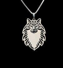 Ожерелье для женщин с изображением мультяшной собаки золотое
