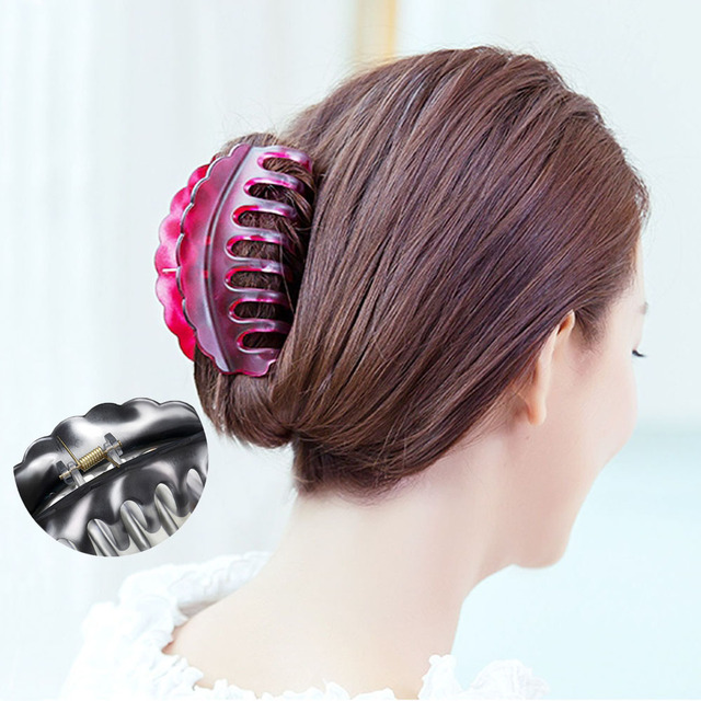 Women Fashion Hairpins Hair Clips Jaw Claws Accessories Bathing Hairgrip Ponytail Holder Banana Grips Clamps Crab Make Up Tools