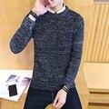 2016 Высококачественные свитера мужчины лучший стиль О шеи мужские свитера бренд пуловеры мужчины осень зима 5XL