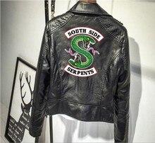 2018 Riverdale Southside змеи женские пальто принт панк кожа Харли локомотив молния куртки для женщин хип-хоп Уличная