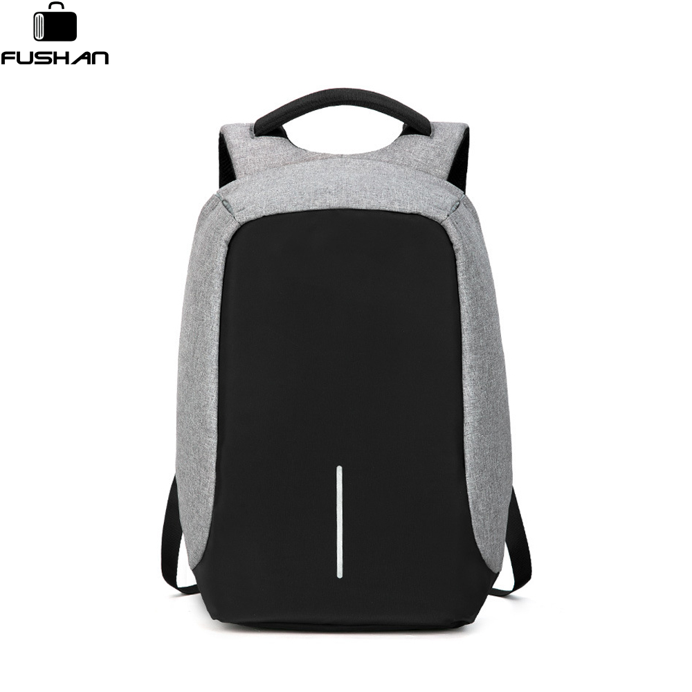 FUSHAN 2018  Men's Backpacks Anti-thief Mochila for Laptop 14-15 Inch Notebook Computer Bags Men Backpack School Rucksack men laptop backpack 15 inch rucksack canvas school bag travel backpacks for teenage male notebook bagpack computer knapsack bags