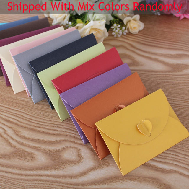 Free shipping 100pcs 1057cm handmade colorful heart clasp free shipping 100pcs 1057cm handmade colorful heart clasp envelopes for wedding party invitation card colourmoves