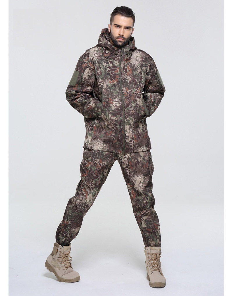 Free Shipping,Brand Quality Tad  Tactical Military Uniforme Multicam Sets,Camouflage Fleece Suit,waterproof Outwear Jacket