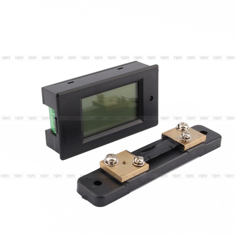 Купить DC50A Цифровой ЖК-Монитор Измеритель Мощности Электроэнергии Вольтметр Амперметр 12 В 24 В Оптовая дешево