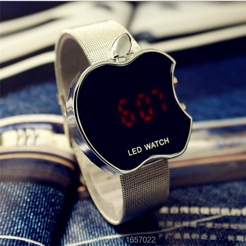 2016 women men casual metal strap promotion sport led watches for ladies fashion dress gift digital