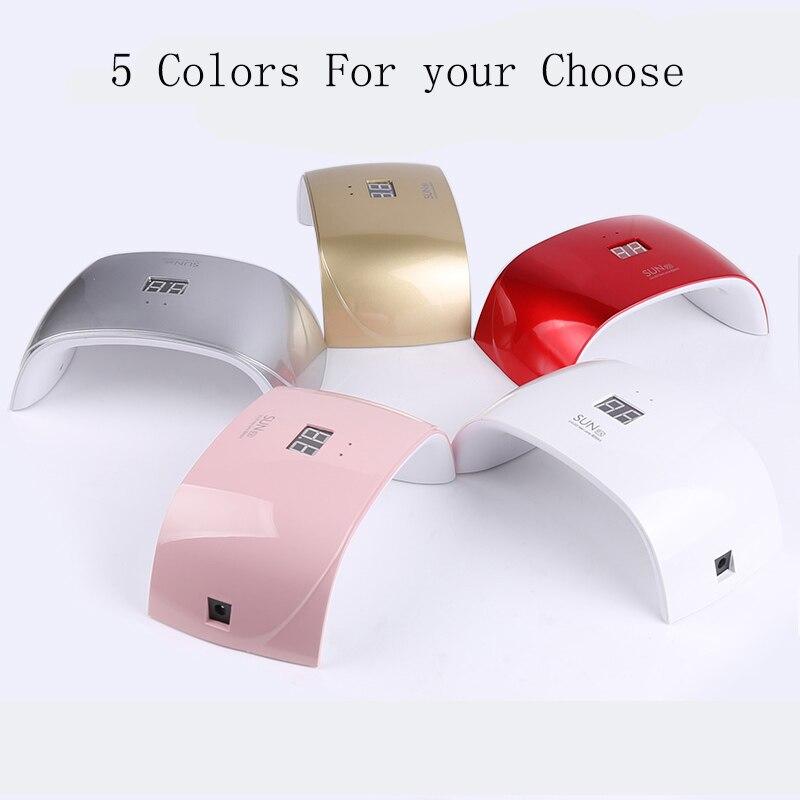 Sun9X Sensor 18W LED UV Lámpara UV Gel Secador de uñas Lámpara de - Arte de uñas - foto 5