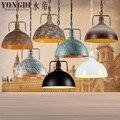 Подвесной светильник абажур  ретро Скандинавское металлическое домашнее промышленное освещение для кухни Остров Украшение столовой