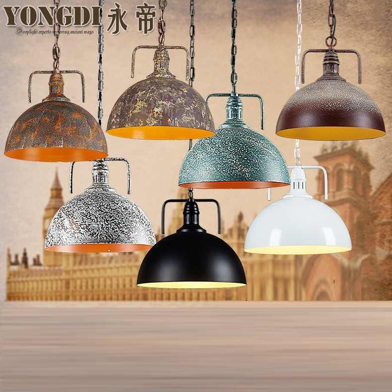 Подвесной плафон для лампы, ретро Скандинавское металлическое домашнее промышленное освещение для кухонного острова украшение для столовой