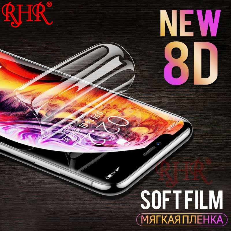 New 8D Full Cover Soft Hydrogel Film For iphone 6 7 8 Plus X 10 Screen Protector For iphone 6 6S 7 8 X Protective Film Not GlasNew 8D Full Cover Soft Hydrogel Film For iphone 6 7 8 Plus X 10 Screen Protector For iphone 6 6S 7 8 X Protective Film Not Glas
