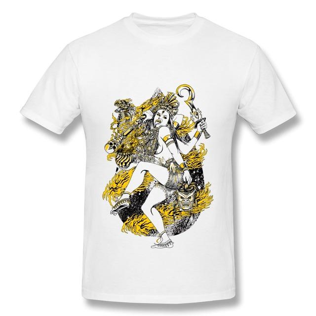 Baratos Por Atacado 100% Algodão homens t-shirt KALI Geek camisetas para homens de Manga Curta