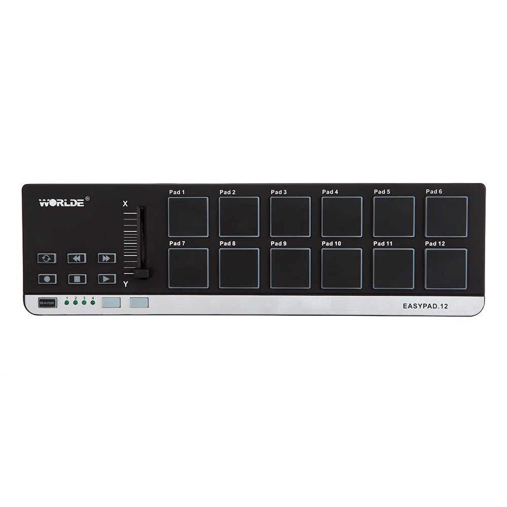 Di alta Qualità EasyPad.12 Portatile Mini USB 12 Drum Pad Controller MIDI Vendita Calda 4 Banche per Diverse Impostazioni