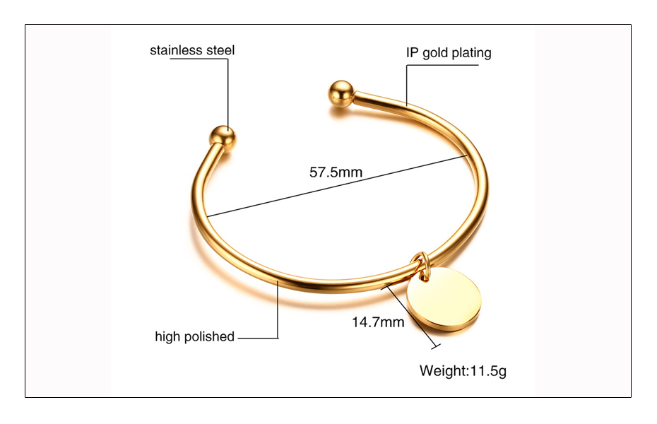 Meaeguet Laser Engrave Charm ID Bangle Personalized Name Bracelet For Women Customized Stainless Steel Bangle Jewelry For Gift (5)
