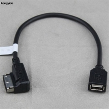 Adaptador de Audio USB Flash drive cable para Mercedes Benz AMI Conector