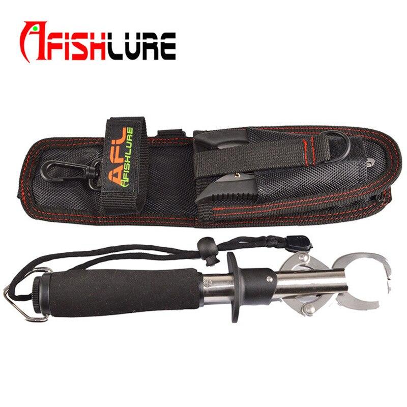 Prix pour Free shopping multifonctionnel outil de pêche sac leurre pinces sacs poissons grip sac 22 CM X 7.8 CM de pêche sac noir ange