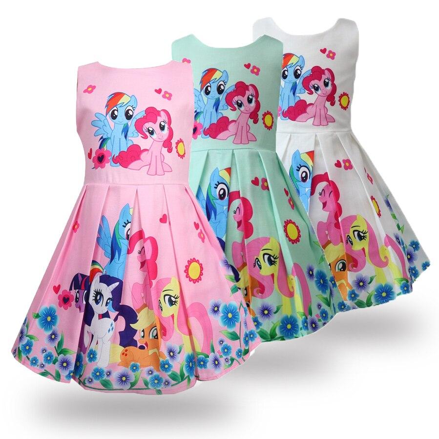 Girls Kids Party Wedding Cosplay Clothes Rainbow Dash Cartoon Skirt Tutu Dresses