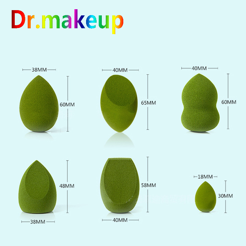 Dr makeup Soft Makeup Sponge Matcha Green Beauty Egg Hydrophilic BB Cream Puff Wet Dry Use Face Foundation Powder Puff Wholesale in Cosmetic Puff from Beauty Health