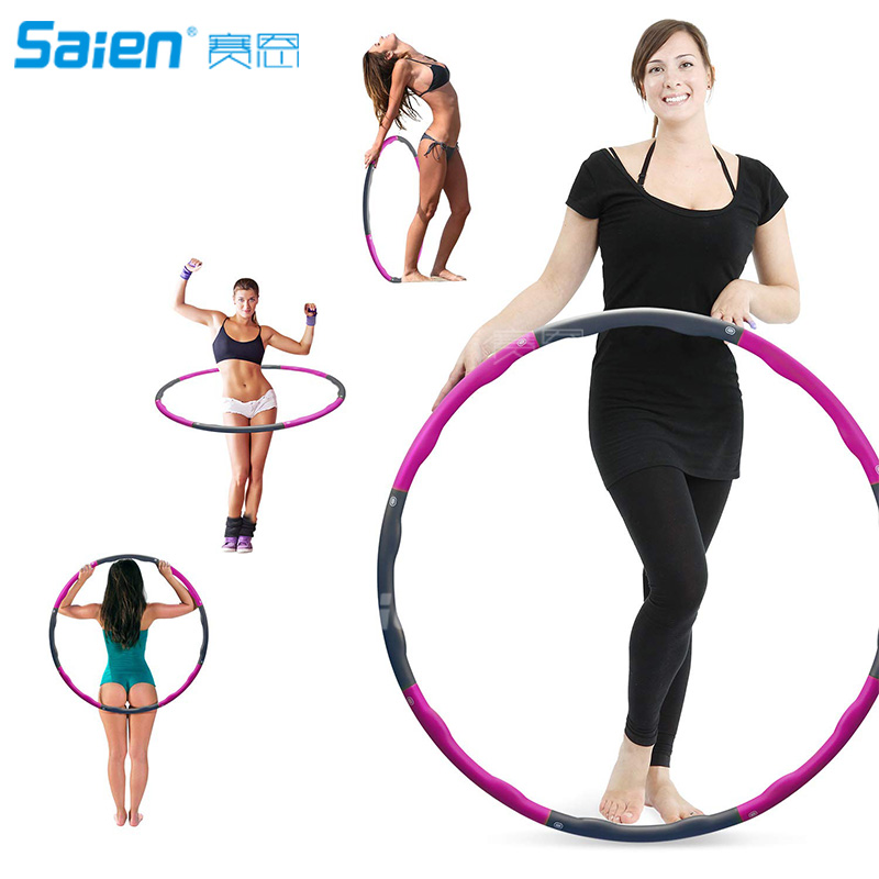 Hula Hoop 2lb Weighted Exercise Hula Hoop For Adult And Kids Adjustable 8section