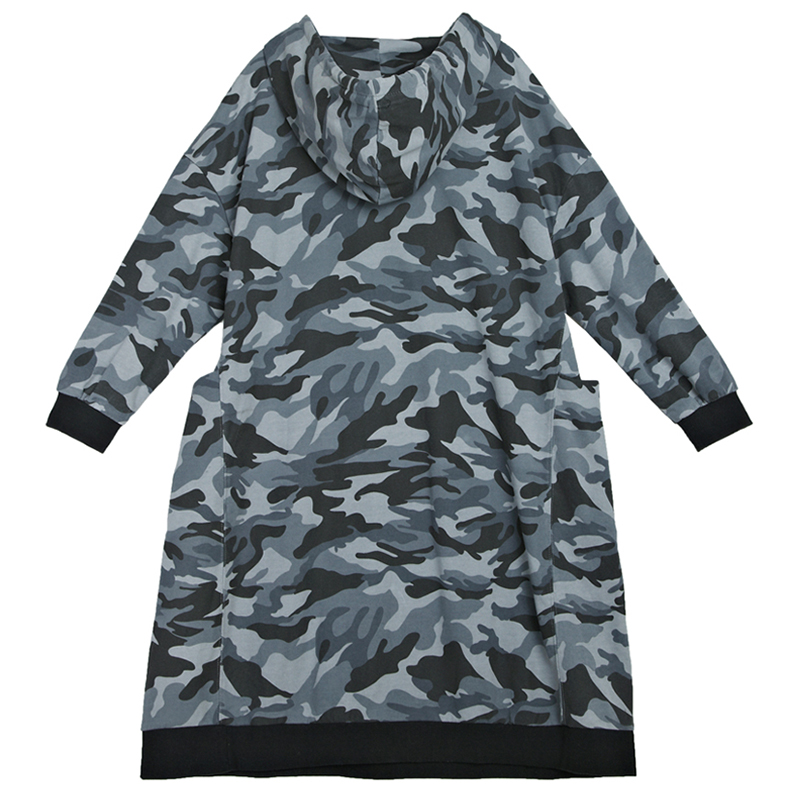 8c092a4535f Oladivi Plus Size Women Hoodies Dress Love Pattern Casual Sweatshirt Tunic  Lady Fashion Oversize Camouflage Print Hooded Dresses-in Dresses from  Women's ...