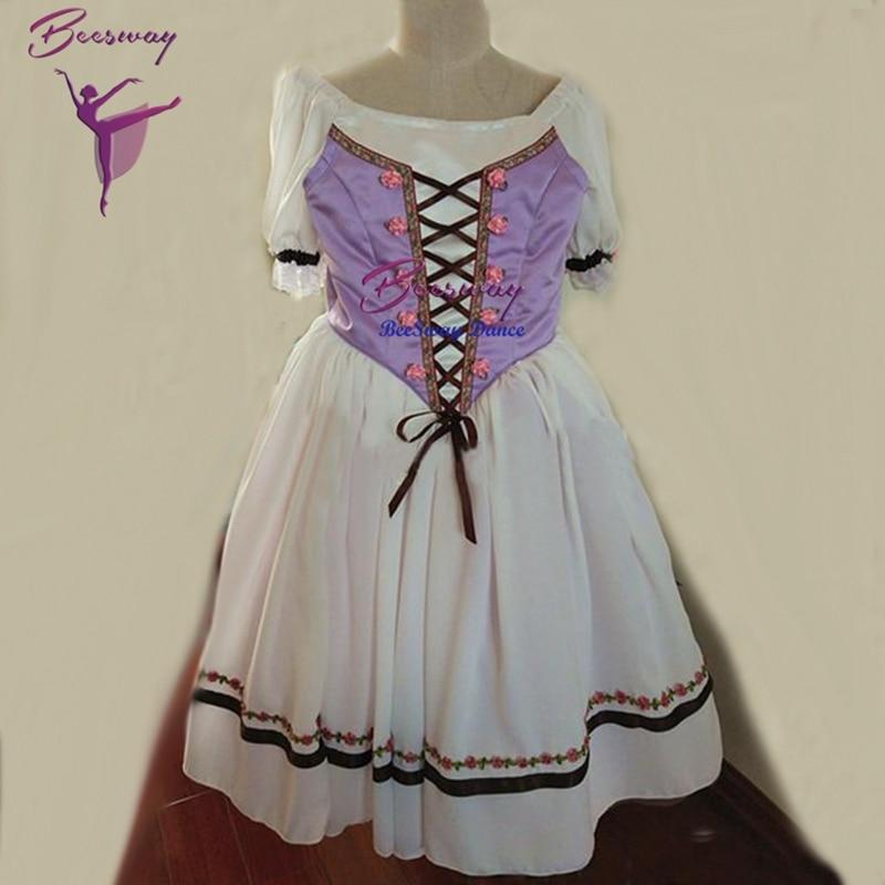 Фиолетовая профессиональная романтическая длинная балетная юбка, платье, профессиональная длинная балетная юбка, мягкая длинная юбка из т