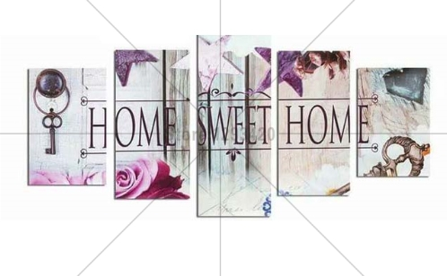 Home Sweet Home 3D DIY Diamond Painting 5PCS Multi Pictures diamond Embroidery Mosaic Cross Stitch sets Home Decoration