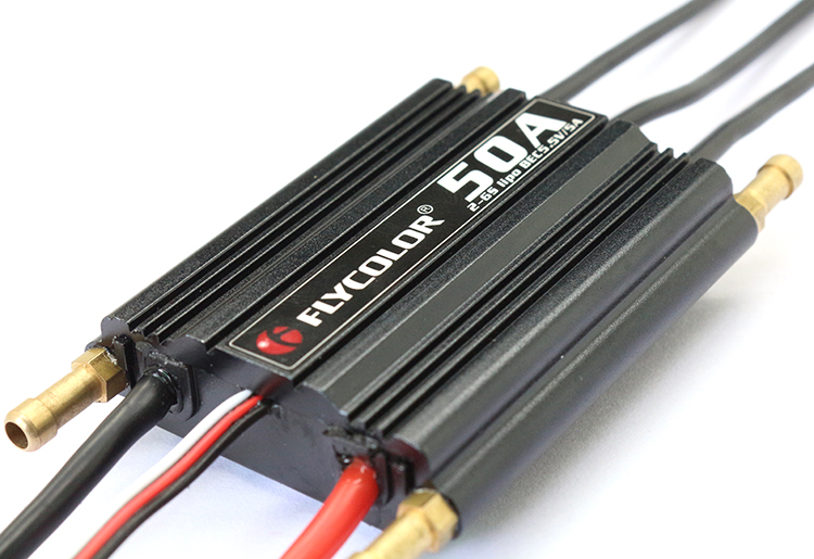 FlyColor 50A/70A/90A/120A/150A Brushless ESC Waterproof Speed Controller 2-6S BEC 5.5V/5A for RC Boat Model Ship 1pcs rc boat brushless esc waterproof 50a esc 2 6sbec 5 5v 5a electric speed controller for gasoline boats spare parts
