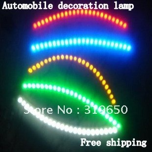 New car decorative lights / automotive LED lamp / car chassis light / indoor lamps, bar with light, free shipping!