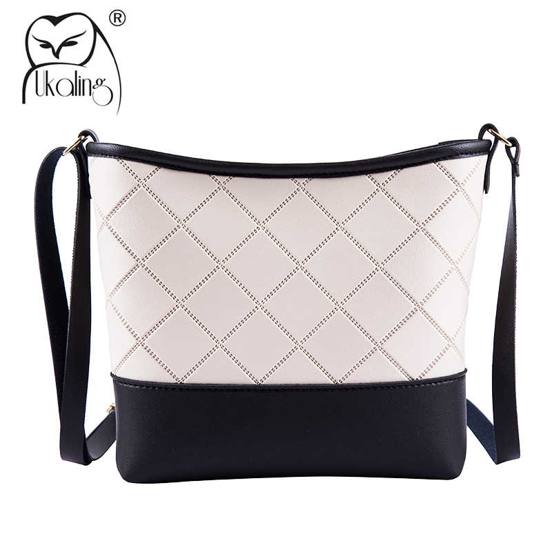 1d2cb0346776 UKQLING Fashion Women s Shoulder Bags PU Leather Bucket Cross Body Bags  Ladies Messenger Bags with Long
