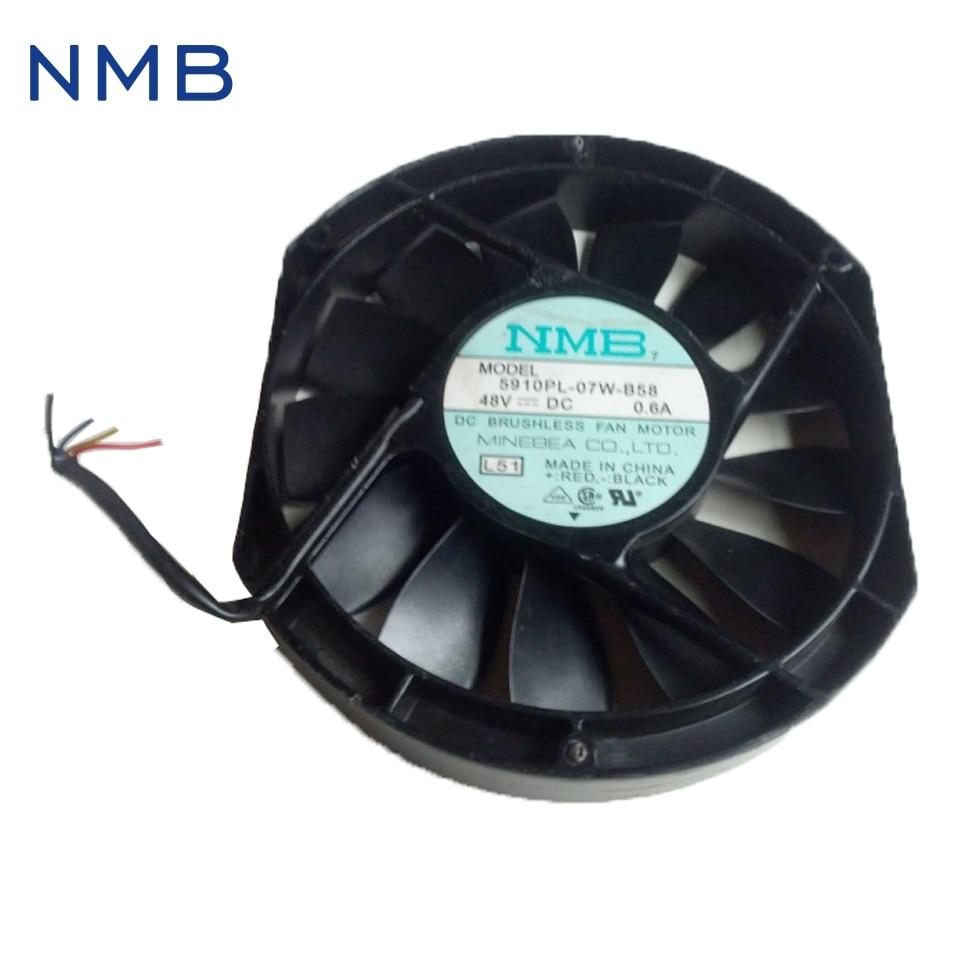 NMB New 17025 48V 0.6A 5910PL-07W-B58 double ball bearing fan IPC 170*170*25mm