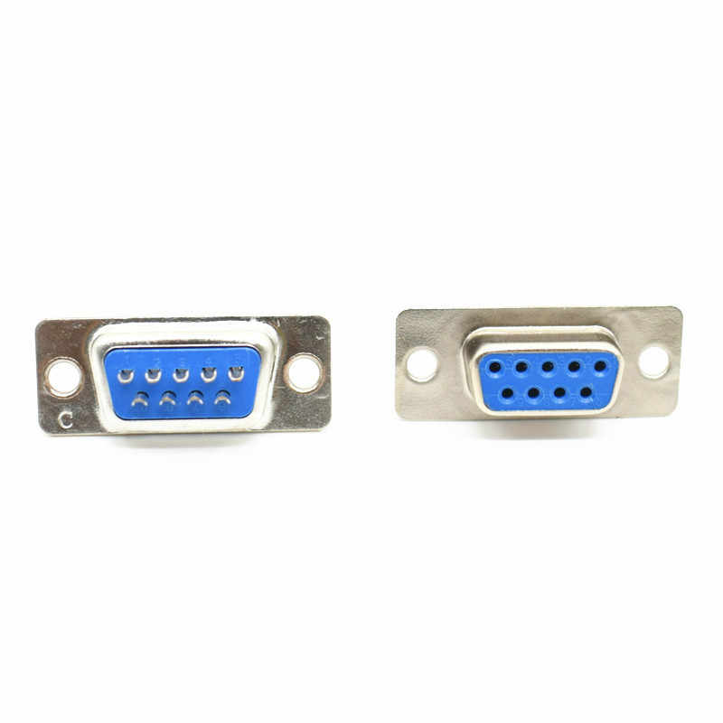 10PCS VGA Male Stecker Socket DB9 9-Pin D-SUB 2 Rows Solder Typ Adapter