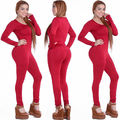 Tight Bodysuit Sexy Overalls Night Club Rompers Womens Jumpsuit Playsuit Bodycon Jumpsuit Macacao woman 2016 long Sleeve 4 color