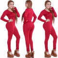 Tight Mono Monos Sexy Night Club Mamelucos Womens Jumpsuit Playsuit Bodycon Jumpsuit Macacão mujer 2016 de Manga larga de 4 colores