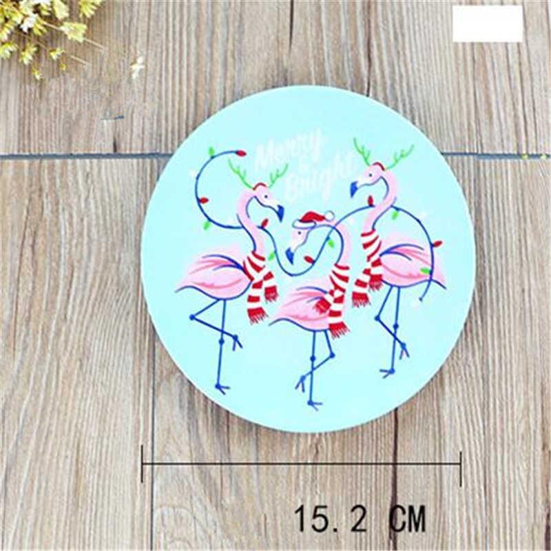 Christmas Plate Set.4pcs Set Cartoon Flamingo Melamine Dishes Christmas Plate Dinner Tableware Dish Cake Fruit Steak Tray Dishes Kitchen Organizer