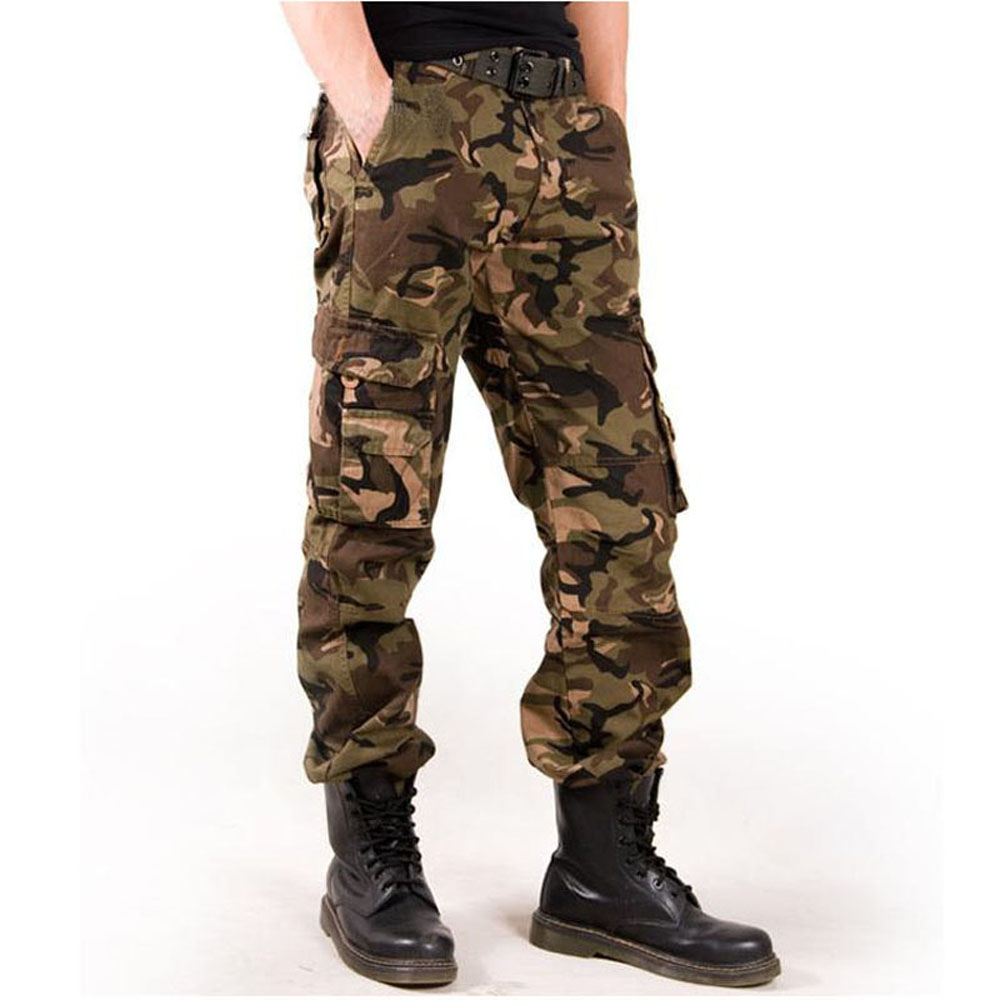 2019 Trend Men's Cargo Pants Cotton High Quality Camouflage  Male Military Cargo Long Pants Army Fashion Men's Trouser