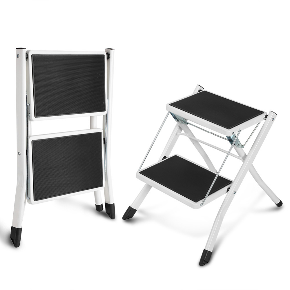 Anti Slip 2 Tread Safety Step Ladder Folding Step Stools