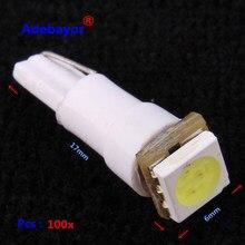 100 X samochód T5 74 5050 SMD 1 lampa LED Instrument Dashboard światło cofania żarówka 12V nowy 7 kolory darmowa wysyłka hurtowa