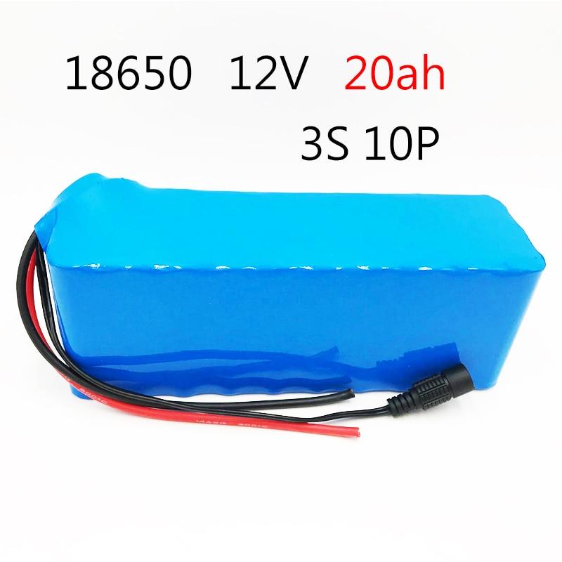 Laudation 12 V batterie Pack 20000 mAh 18650 batterie 20Ah Batteries rechargeables pour CCTV/caméra/lumière/LED offre spéciale