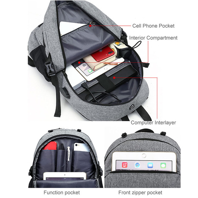 USB Basketball Backpack Gym Fitness Bag Sporttas Net Ball Bags for Men Sports Sac De Sport Tas Men's School Boys Pack XA414WA 2