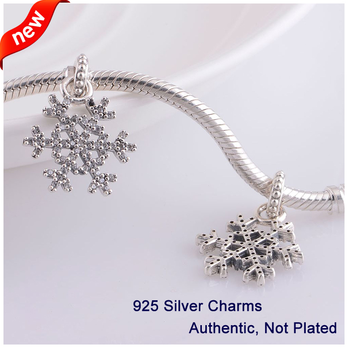 L341 New Arrival Authentic 925 Sterling Silver Beads snowflake - Fine Jewelry - Photo 4