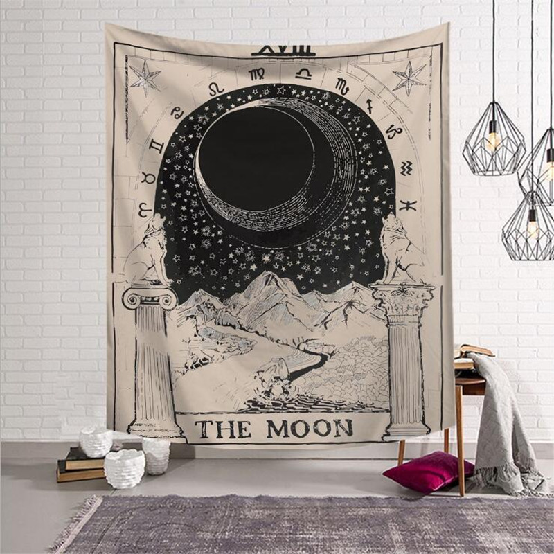 Europe Tapestry Tarot Divination pattern tapestry Living room bedroom home decor background cloth w3-new-LS-TLP-7(China)