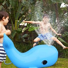 Kids Children Inflatable Water Spray Dolphin Toys Simulation Dolphin Model Toy Outdoor Swimming Pool Game Appliance Toys