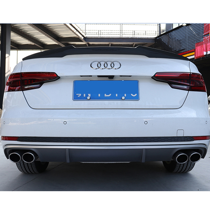 For Audi A4 B9 4 door sedan 2016 2017 2018 M4 style high quality carbon fiber rear wing Roof rear box decorated spoiler for audi a3 s3 2014 2015 2016 sedan 4doors high quality carbon fiber rear wing roof rear box decorated rear spoiler