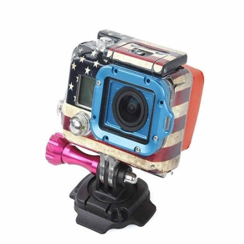 360 オートバイヘルメットロータリー粘着基マウントの Gopro Hero5 3 4 セッション SJ4000 Xiaomi 李 4 k Eken アクションカメラアクセサリー