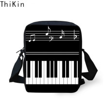 THIKIN Cute Music Piano Keyboard Prints Small Children Schoolbag Fashion Mini Student Bookbag Boy Girl Messenger Bag Tote Bolsos