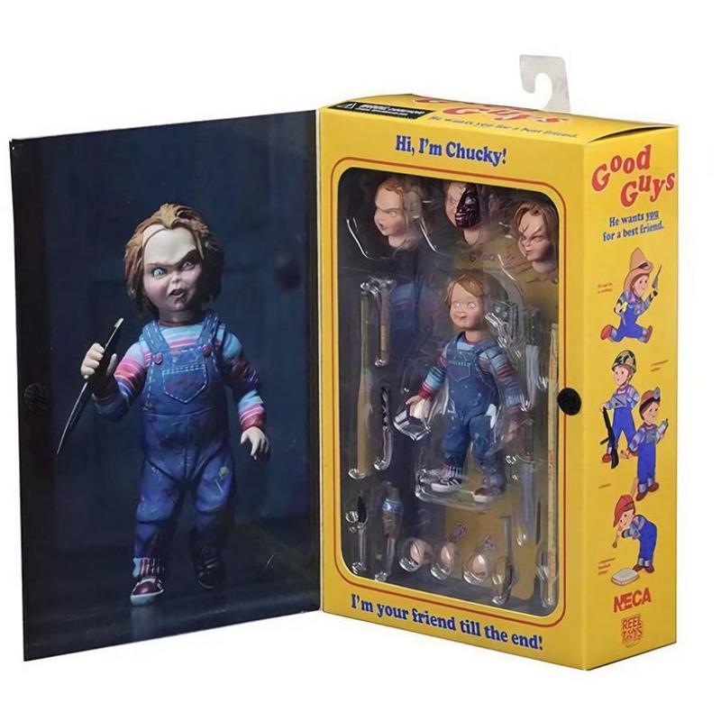 Elsadou NECA Chucky Action Figurs Doll With Retail Box 15cm elsadou neca chucky action figurs child s play doll with retail box 15cm