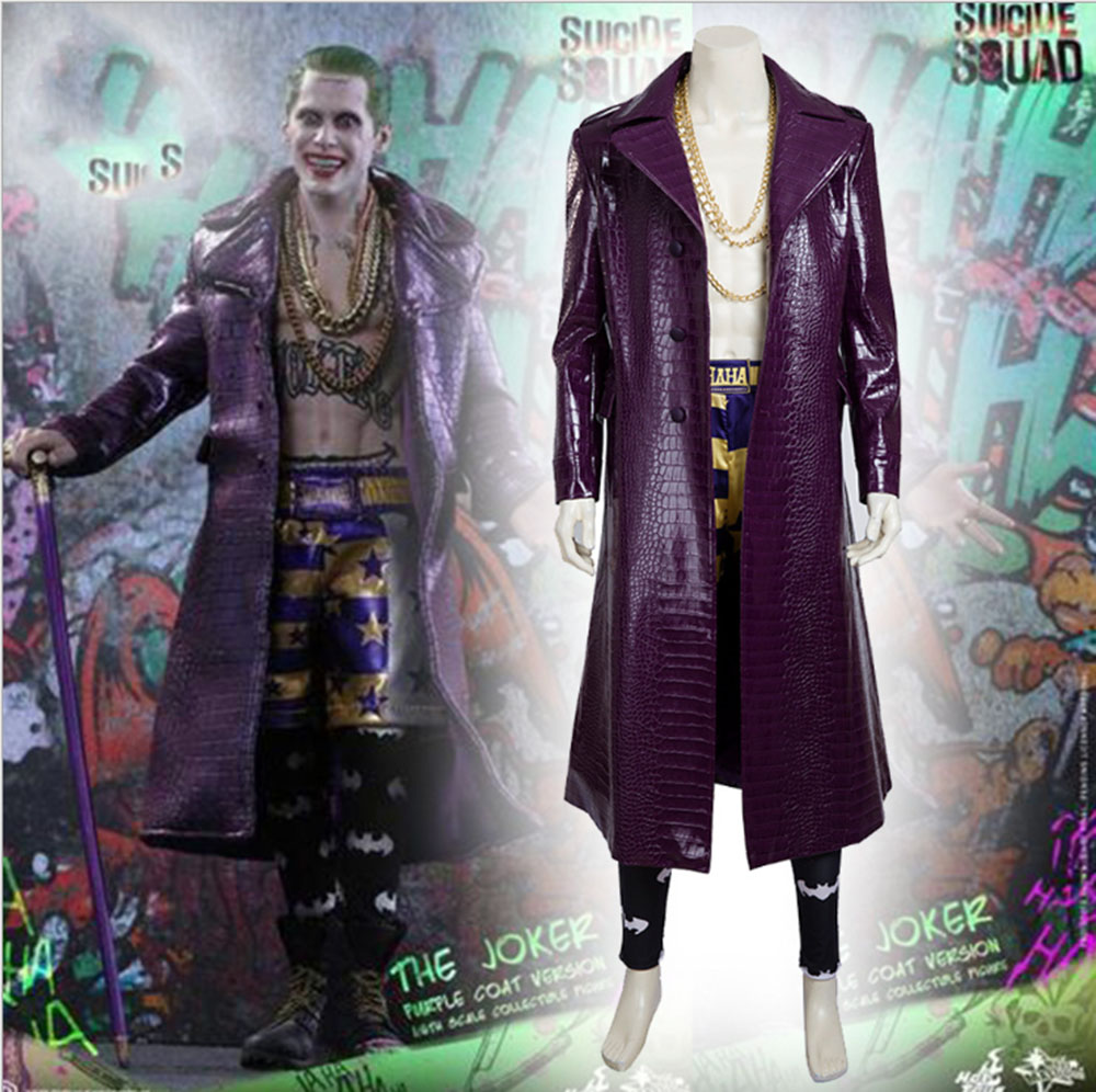High Quality Movie costume New suicide squad cosplay costume Joker cosplay set Jared Leto Joker Adult