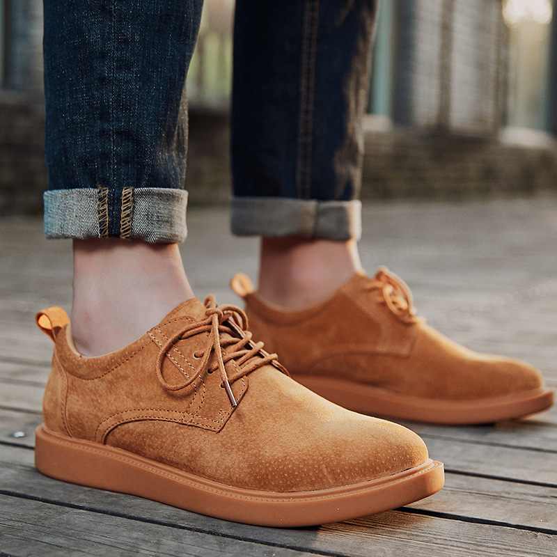 grey Sapatos Couro Sneakers Primavera Das Calçados Chaussure Black Sapatilhas De Camurça Brown Outono Novos Oxford Dos brown Homme 2019 Homens FPg5Uwq