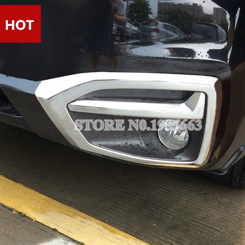For Subaru Forester Chrome Front Fog Light Trim Cover 2016-2017 2pcs forester headlight 2013 2016 fit for lhd rhd need add 200usd free ship forester fog light 2ps se 2pcs aozoom ballast forester