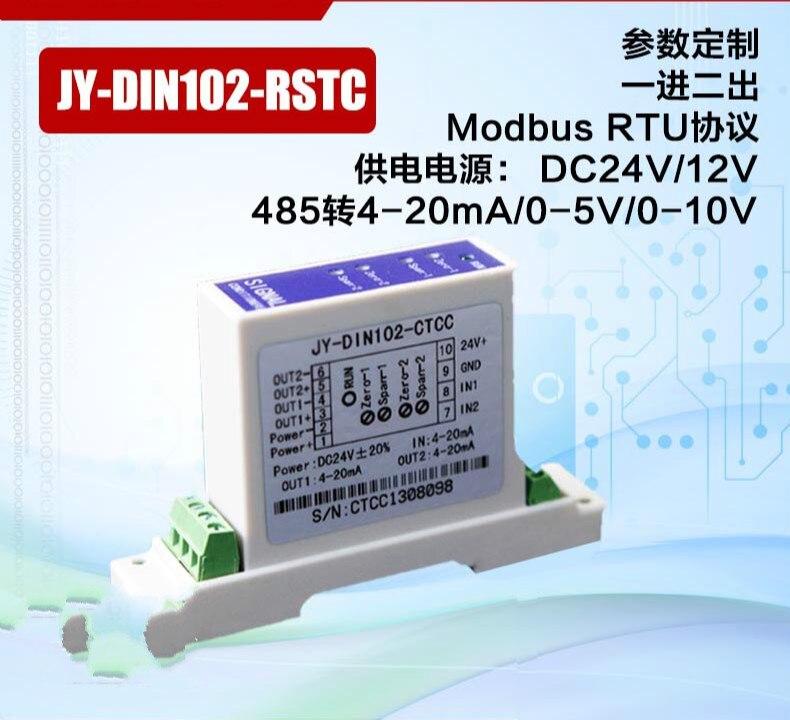 Temperature Transmitter Acquisition Module PT100 Platinum Thermal Resistor to RS485 Signal Isolator Modbus RTU